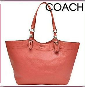 NWT COACH POMEGRANATE Carly Leather Large Tote